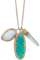 Melissa Joy Manning Gem Silica Chrysocolla, Aqua Crystal Stick and Opal Doublet Freeform Necklace