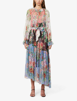 Zimmermann Floral-print silk-crepe maxi dress