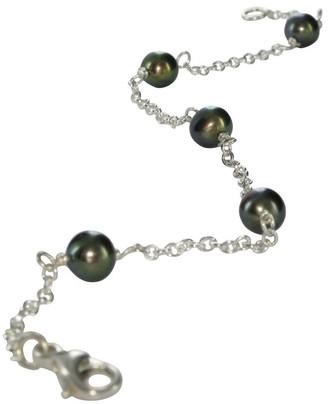 Jane Davis SATC CH039 Silver Peacock pearl linked Ladies' bracelet 17cm
