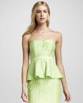 Tracy Reese Strapless Peplum-Style Dress