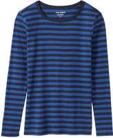 Joe Fresh Women's Long Sleeve Stripe Tee, Red (Size XS)