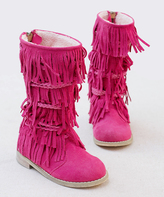 Carmine Riley Suede Boot & Hair Clip