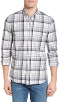 Victorinox Men's Trim Fit Plaid Sport Shirt