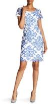NUE by Shani Printed Yoke Sheath Dress