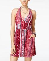 Trixxi Juniors' Halter Fit & Flare Dress
