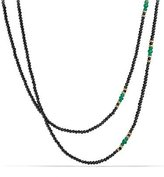David Yurman Osetra Tweejoux Black Spinel & Green Onyx Necklace, 36""