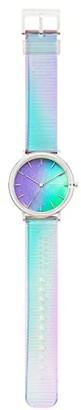 Skagen Aaren Limited Edition Three-Hand Iridescent Watch (SKW6641 Iridescent Clear Silicone) Watches