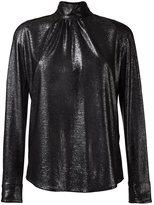 Golden Goose Deluxe Brand high collar lurex shirt