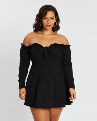 Missguided Curve Milkmaid Skater Dress