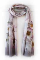 Oakley Finch Floral Rose Print Voile Scarf With Gift Box And Card