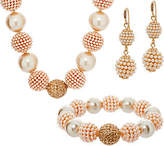 Carolee Park Avenue Simulated Pearl & Crystal Necklace Set