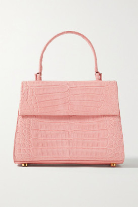 Nancy Gonzalez Lexi Small Crocodile Tote - Pastel pink