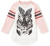 Jessica Simpson Big Girls 7-16 Neco V-Neck Tiger Tee