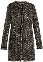 Giambattista Valli Collarless cotton-blend tweed coat