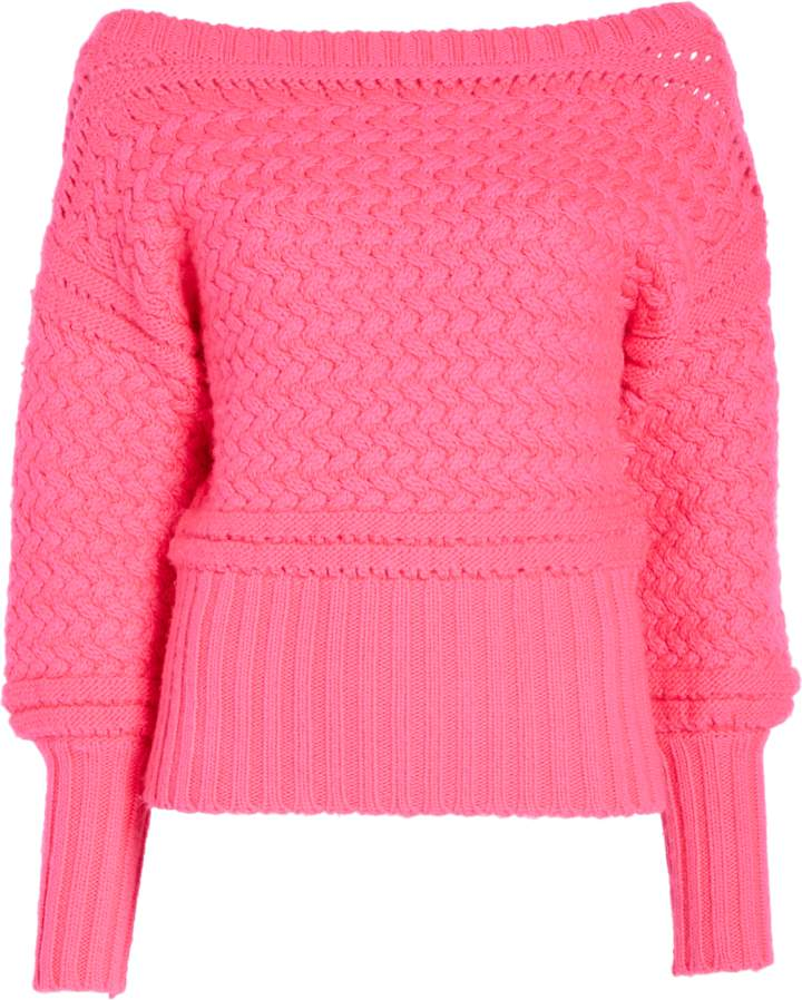 Tanya Taylor Cable Knit Marie Knit Sweater
