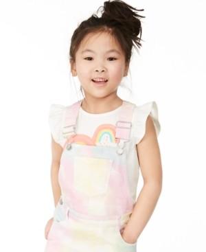 Epic Threads Toddler Girls Rainbow Heart Flutter-Sleeve T-Shirt, Created for Macy's