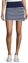 Beyond Yoga x kate spade new york sailing stripe high-waisted skort, blue/white