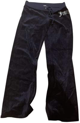 Juicy Couture Navy Velvet Trousers for Women