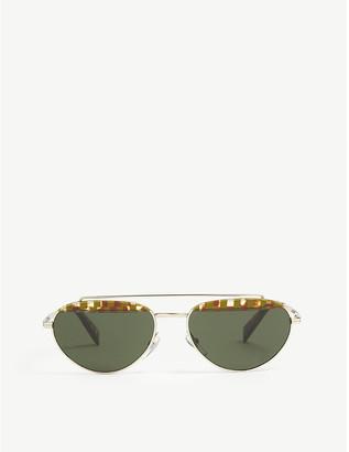 Alain Mikli Elicot Havana oval-frame sunglasses