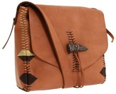 Lucky Brand Laguna Canyon Leather Shoulder Bag (Dark Camel) - Bags and Luggage
