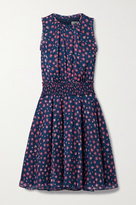 Jason Wu Collection Shirred Floral-print Chiffon Dress - Blue