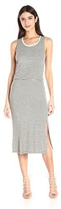 Olive + Oak Olive & Oak Women's Stripe Tank Dress with Slit
