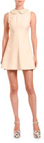 Miu Miu Embroidered Peter Pan Collar Cady Mini Dress