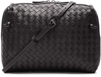 Bottega Veneta Woven Leather Shoulder Bag in Nero | FWRD