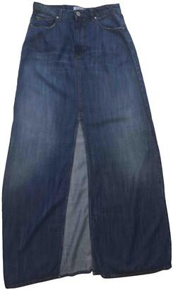 Pinko Blue Cotton - elasthane Skirt for Women