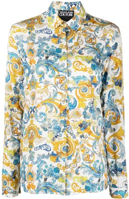 Versace Jeans Couture Baroque-Print Long-Sleeved Shirt