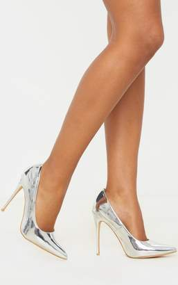 PrettyLittleThing Gold Court Shoes