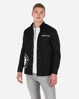 Express Brooklyn Nets Nba Twill Shirt Jacket