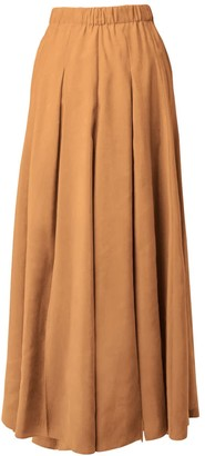 Tomcsanyi Vac Rust Multi Slits Midi Skirt