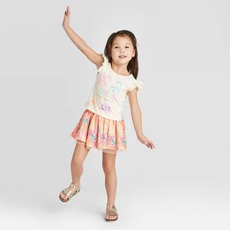Universal Toddler Girls' 2pk Trolls Tutu Top and Bottom Set -