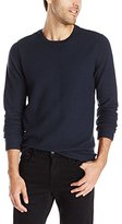 Vince Men's Racking Stitch Thermal Long Sleeve Crew Sweater