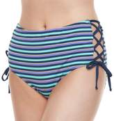 Social Angel Juniors' Social Angel Lace-Up High-Waisted Bottoms