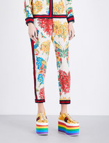 Gucci Floral-print silk trousers