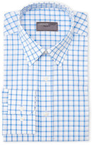 Lorenzo Uomo Light Blue Regular Fit Check Dress Shirt