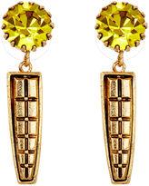Nicole Romano Keystone Earrings, Yellow