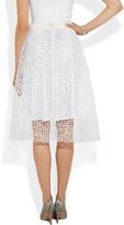 Calvin Klein Collection Parawa embroidered mesh skirt
