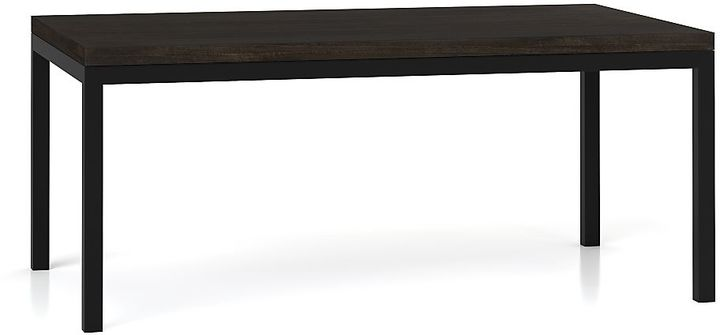Crate & Barrel Parsons Myrtle Top/ Dark Steel Base 72x42 Dining Table