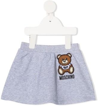 MOSCHINO BAMBINO Stitched Teddy Logo Skirt
