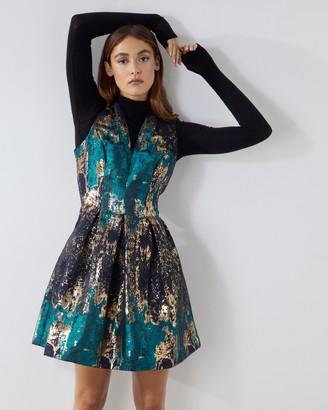Vince Camuto Jacquard Sleeveless Dress