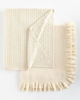 Sofia Cashmere Cabled Cashmere Throw