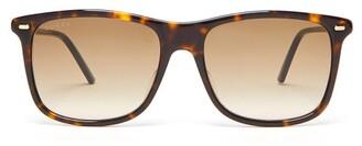 Gucci Tortoiseshell Square Acetate Sunglasses - Mens - Tortoiseshell