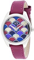 Armani Exchange Serena Collection AX5523 Women's Leather Strap Watch