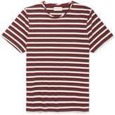 Oliver Spencer Conduit Striped Mélange Cotton-jersey T-shirt - Navy