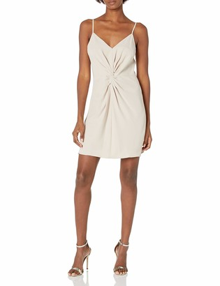 Amanda Uprichard Women's Ellie Twist Front Mini Slip Dress