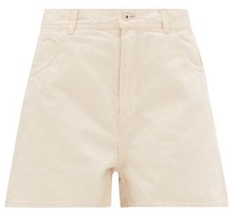 Jil Sander High-waist Denim Shorts - Womens - Ivory