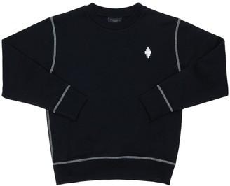 Marcelo Burlon County of Milan Logo Embroidered Cotton Sweatshirt